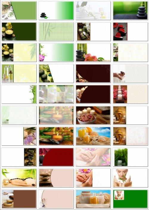 Фоны для визиток: SPA, массаж, салон красоты. 45 JPEG