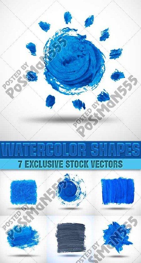 Акварельные формы | Watercolor Shapes 2, Вектор