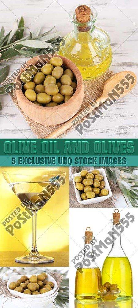 Свежие оливки и оливковое масло | Olive oil and olives, Стоковый клипарт