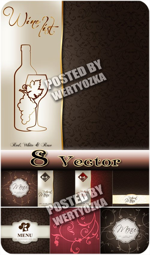 Ресторанное меню, фоны / Restaurant menu backgrounds - stock vector