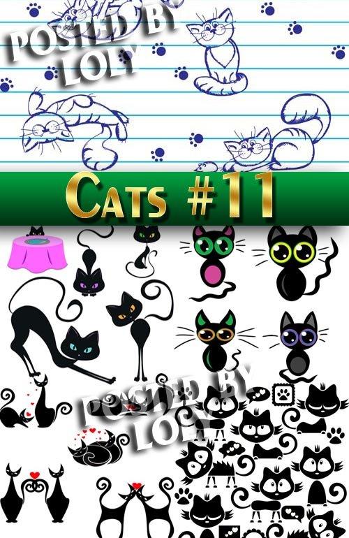 Чудесные котята #11 - Векторный клипарт