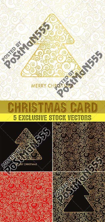 Красивые золотые Рождественские открытки, фоны | Beautiful golden Christmas ...