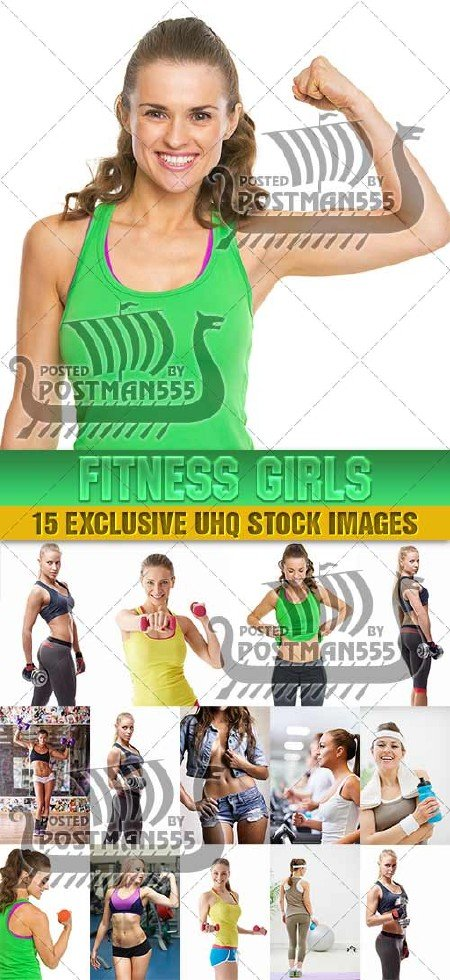 Спортивные девушки | Fitness girls Collection, 3 - стоковый клипарт