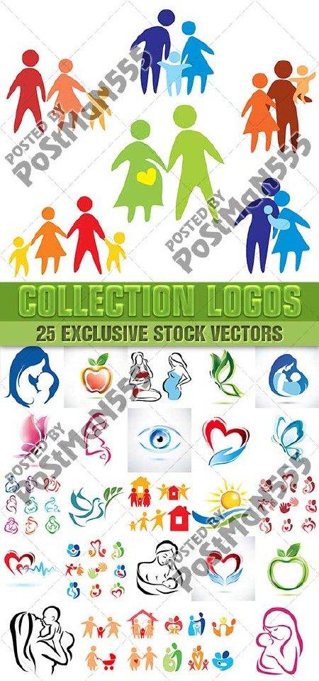 Счастливая семья - коллекция логотипов | Happy family - collection of logos ...