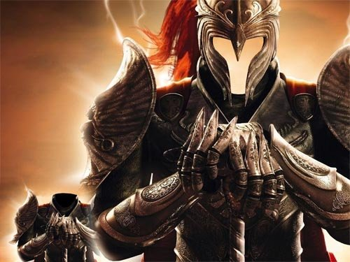 Шаблон мужской - Воин в доспехах и шлеме