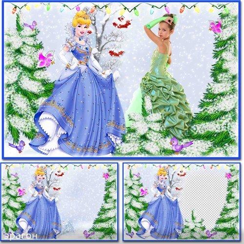 Детская рамка-коллаж для фотошопа – Зимний праздник