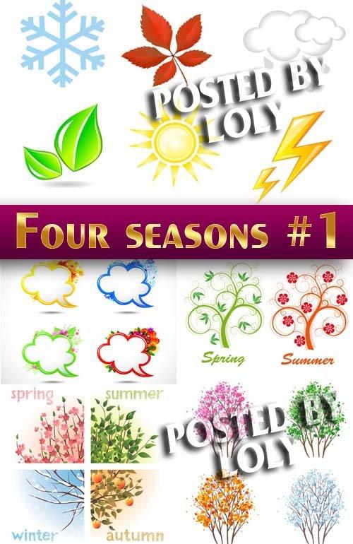 Четыре сезона #1 -  Векторный клипарт