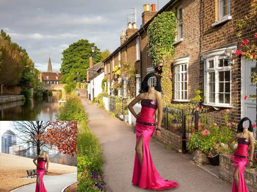 Шаблон для фотомонтажа - В красном красивом платье
