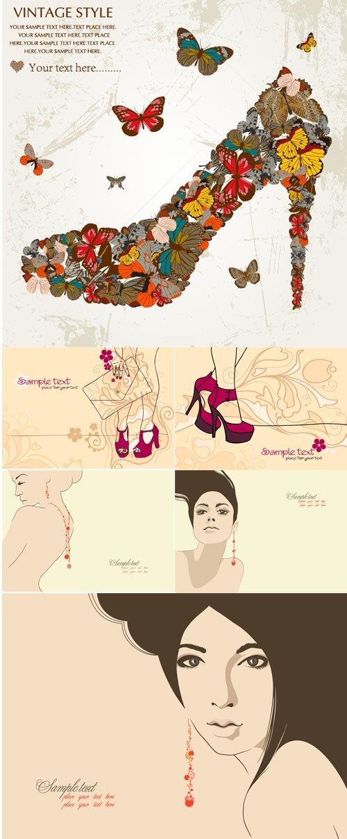 Векторный сборник - женские штучки eps files