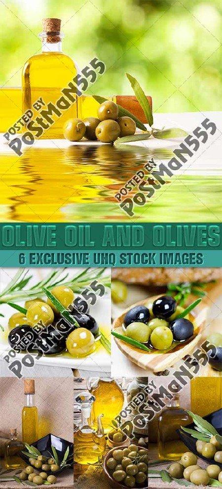Свежие оливки и оливковое масло | Olive oil and olives 2, стоковый клипарт