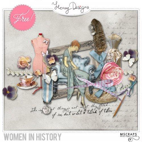 Скрап-набор Women in history