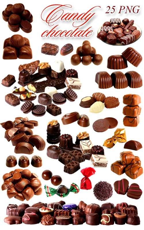 Шоколадные Конфеты - Клипарт на прозрачном фоне / Chocolate Candy