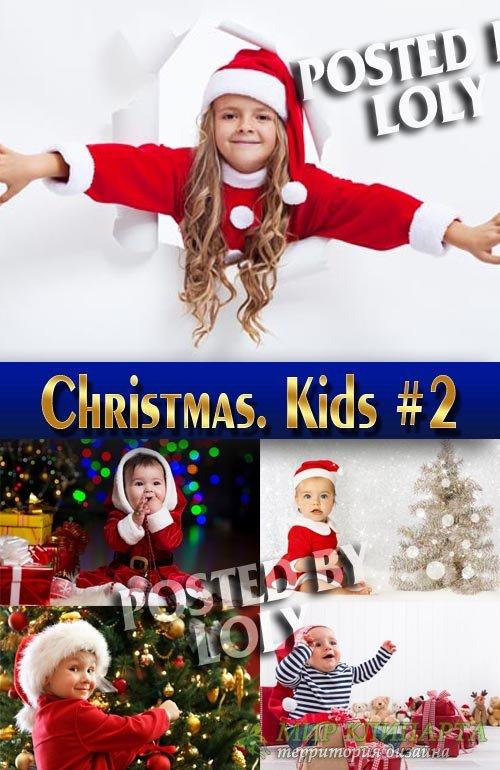 Дети и родители на Новый год #2 - Растровый клипарт