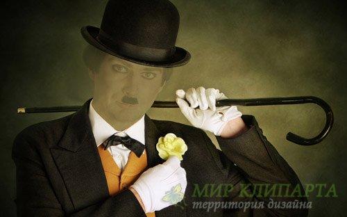 Шаблон для мужчин - В костюме Начало XX века