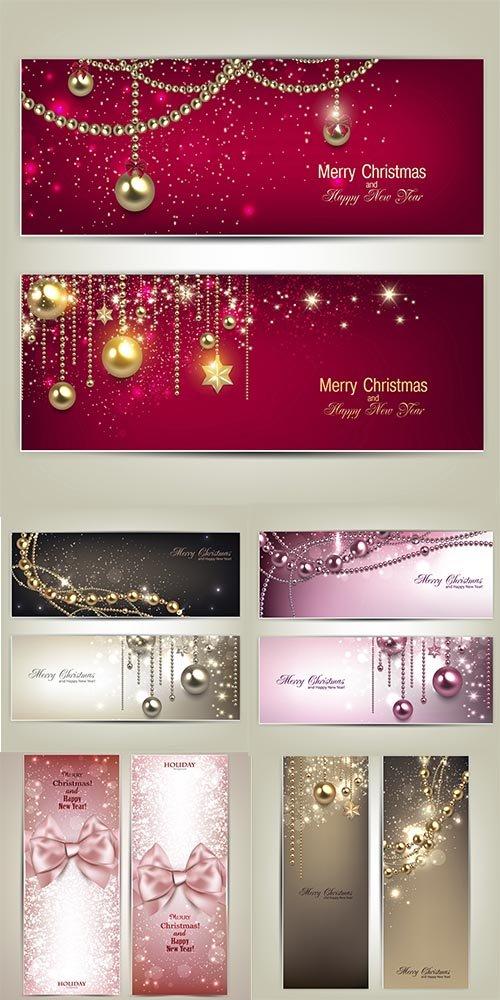Сборник векторных  новогодних открыток 5 eps files