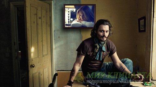 Рамка для фотографии - Любимица кинозвезды Джонни Деппа