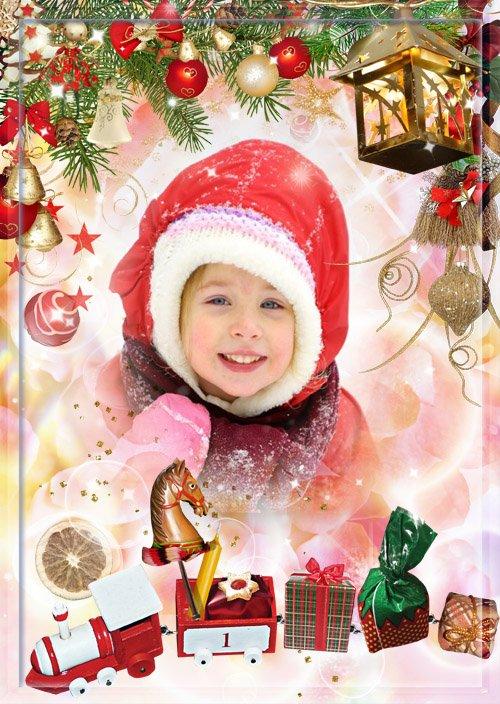 Новогодняя фоторамка - В ожидании Деда Мороза