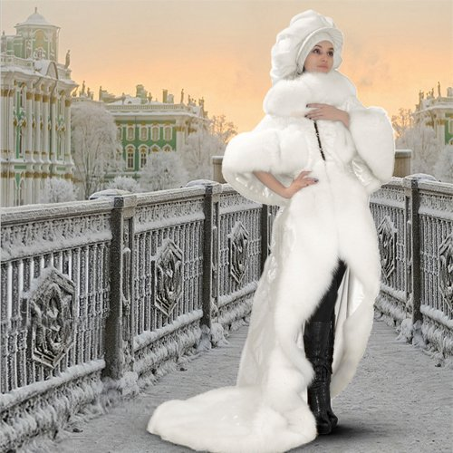 Шаблон  женский  ''На мосту ''