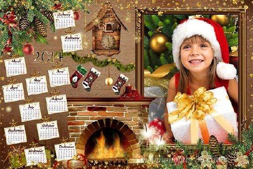 Календарь  на 2014 год – Волшебство в ночь рождества