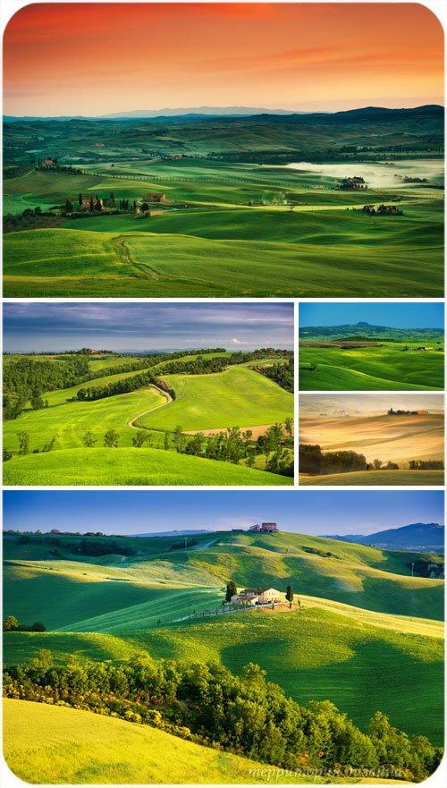 Чудесные пейзажи, природные фоны - сток фото