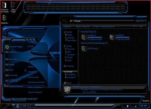 STEALTH BLUE - Тема для Windows 7
