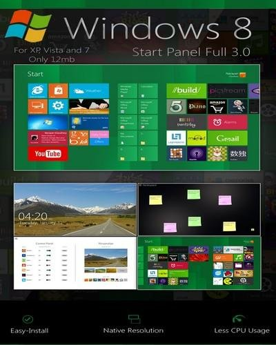 Start pane windows 8 - Тема для Windows 7
