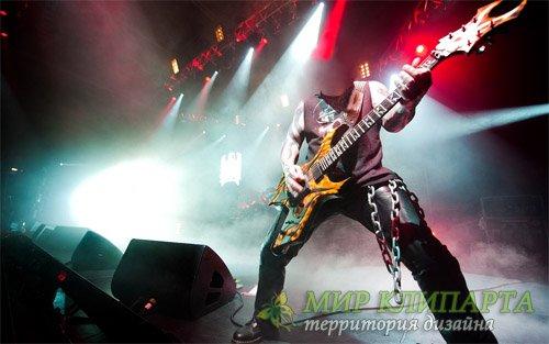 Шаблон для мужчин - Гитарист на сцене