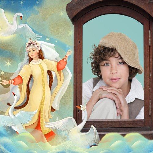 Рамка детская  ''Гуси - лебеди''