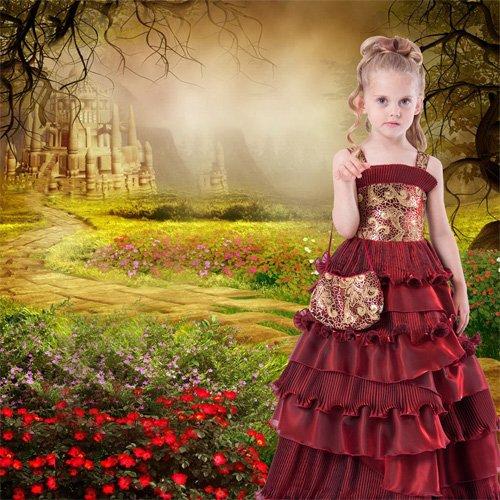 Шаблон  детский  ''Замок фей''
