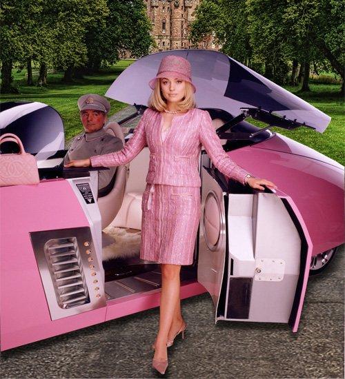 Шаблон  женский  ''Дама в розовом''
