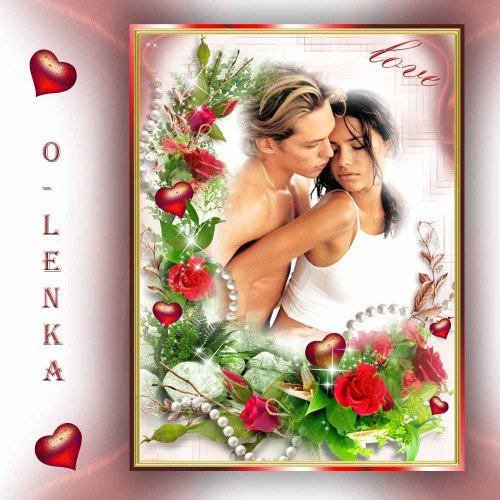 Рамка для фотошопа - Мечта, любовь, желание