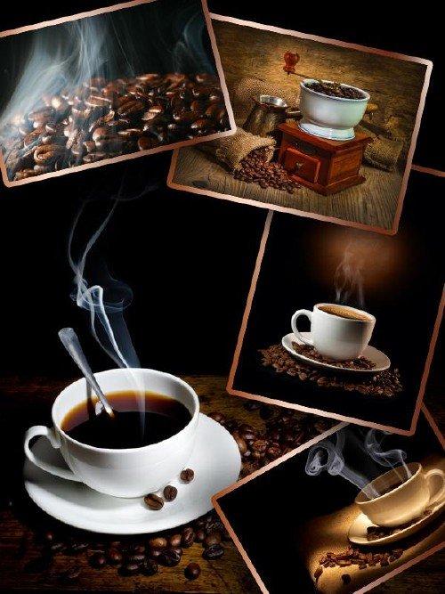 Кофе и кофейные зерна - подборка клипарта