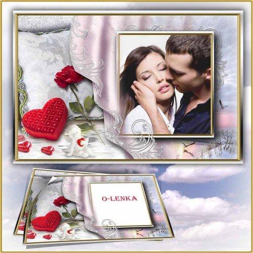 Рамка для фотошопа - Любовь таинственный цветок