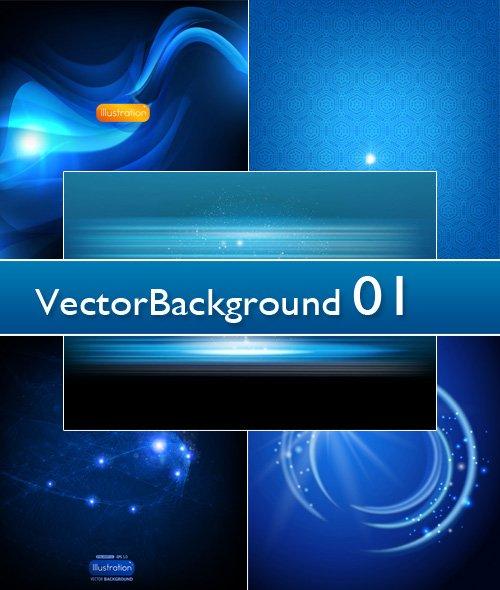 Набор стильных абстрактных фонов в векторе