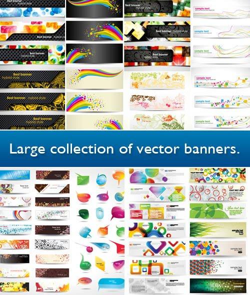 Большой сборник векторных баннеров