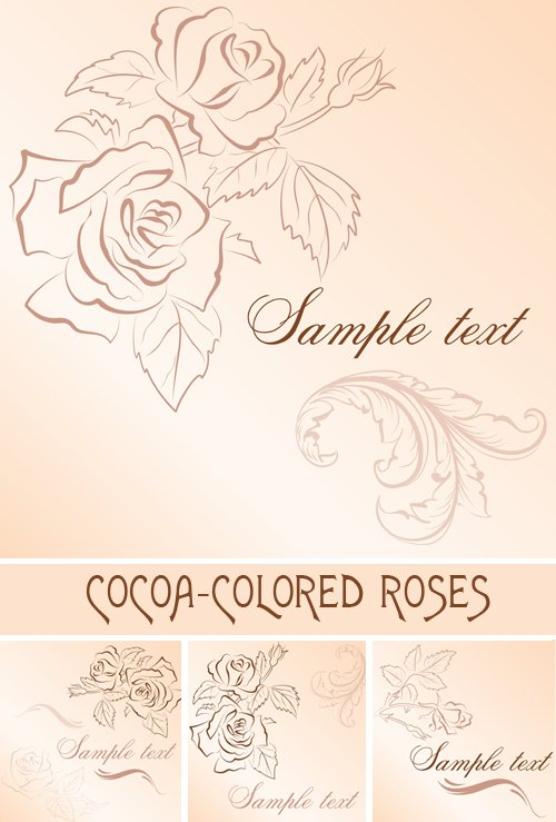 Cocoa-colored roses backgrounds