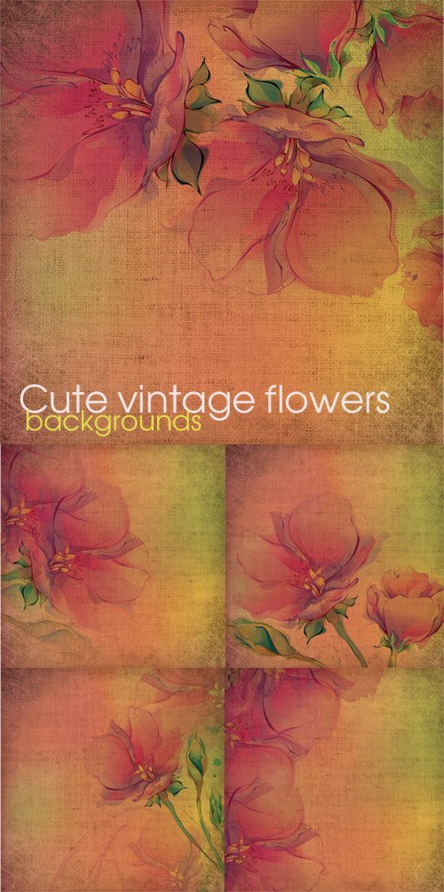 Cute vintage flowers - backgrounds