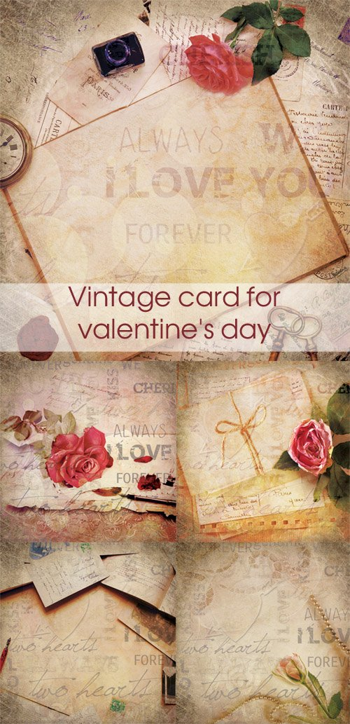 Vintage card for valentine's day