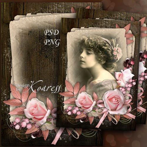 Романтическая винтажная рамка для фото - Очаровательная нежность старых фот ...