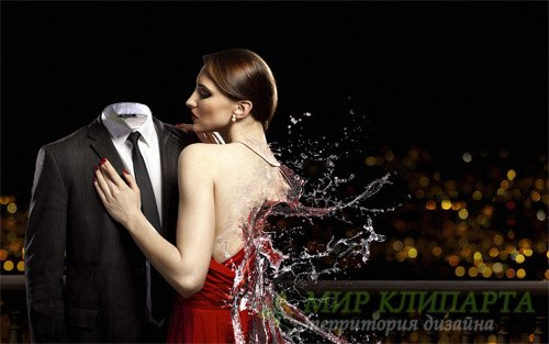 Шаблон для фото - Креативное фото с девушкой из воды