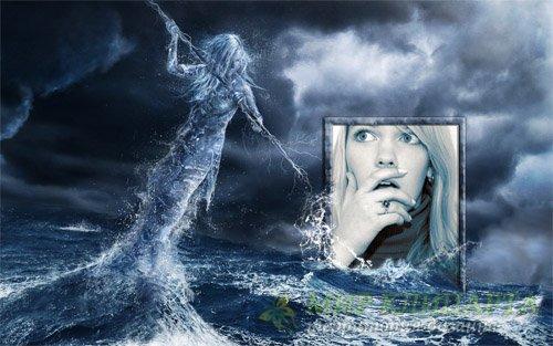 Рамка для фотомонтажа - Мифический шторм