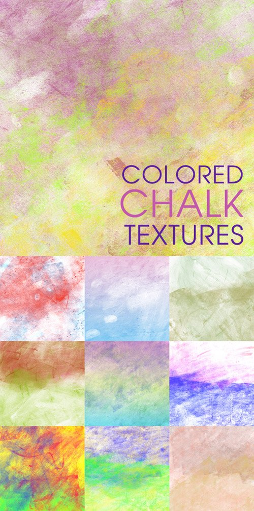 Colored chalk textures