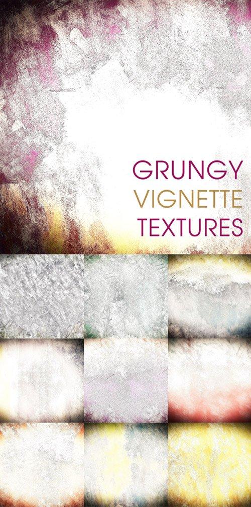 Grungy vignette textures