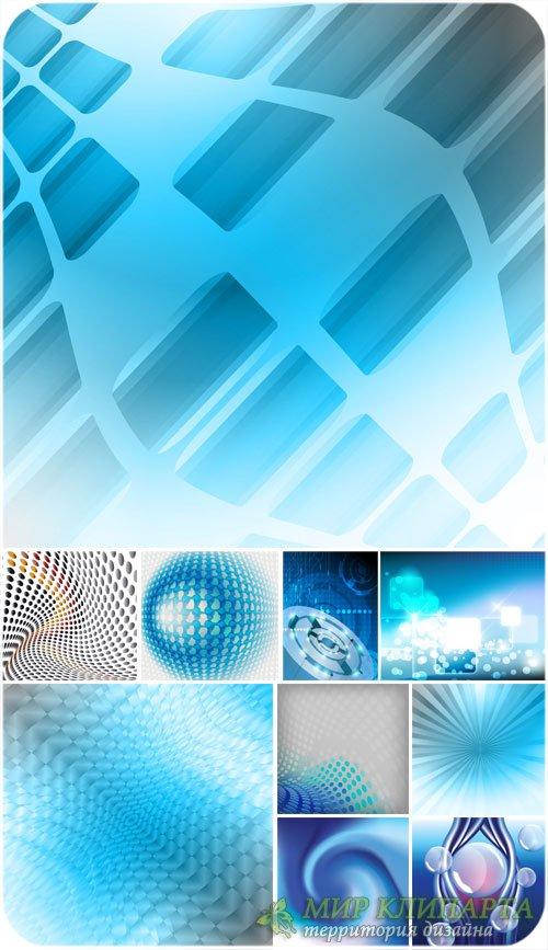 Векторные синие фоны, абстракция