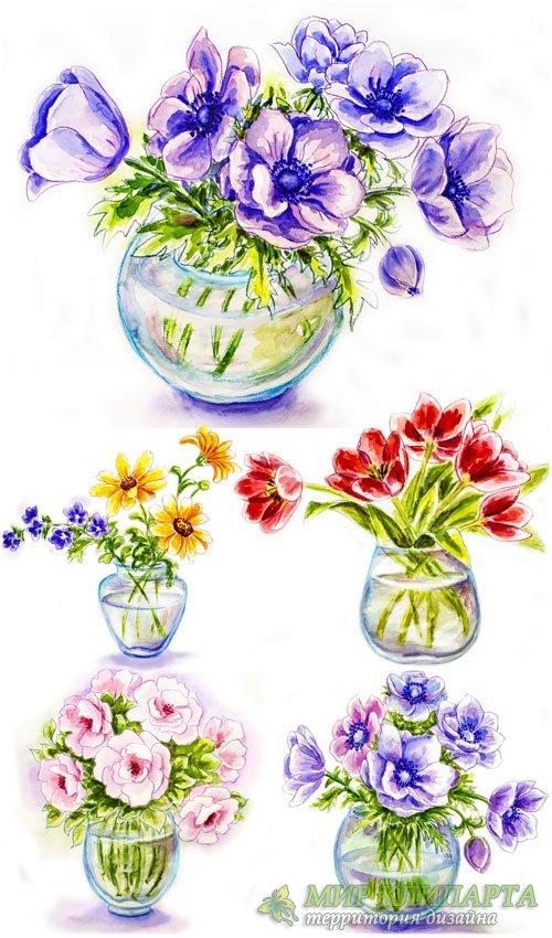 Как нарисовать красивый цветок в вазе