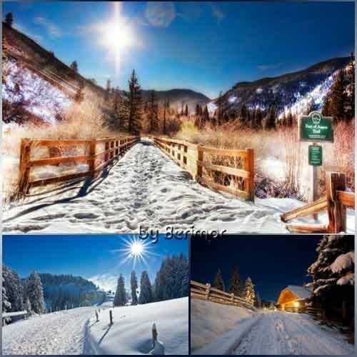 Необычные виды прелестной зимней дороги.