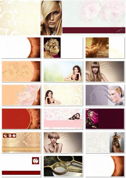 Фоны для визиток: парикмахерские услуги, салон красоты (часть 3). 20 JPEG