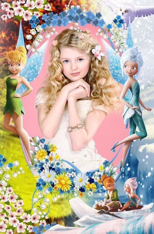 Детская рамочка - с феями Динь-Динь и Незабудкой