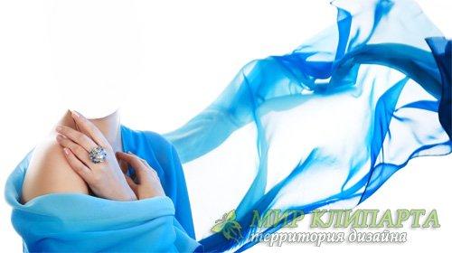 Шаблон для Photoshop - В красивом голубом платье