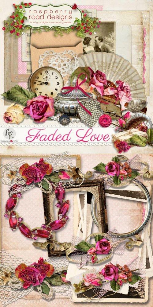 Мини скрап-набор Faded Love + 5 Сlusters